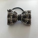 リネン刺繍★タータンチェックリボンヘアゴム by Latte*