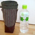 ブラウンレザーと遠州紬のペットボトルホルダー by katsu